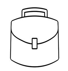 Portfolio suitcase business icon line vector