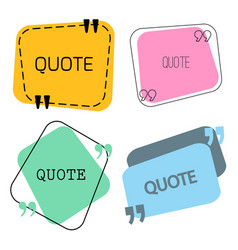 Quotes frame and sign set vector