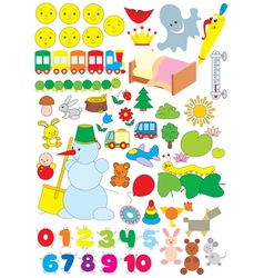 Simple objects for kindergarten vector image