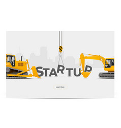 startup creation building vector image