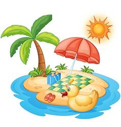 Summer at the beach vector image vector image