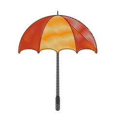 umbrella striped icon image vector image vector image