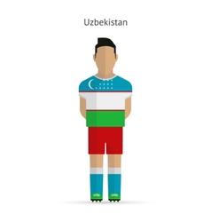 Uzbekistan football player soccer uniform vector