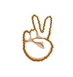 Victory sign peace hand gesture people emotion vector
