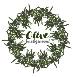 Wreath with branch of olive vector