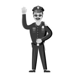 Policeman icon gray monochrome style vector image