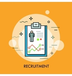 Recruitment human resources and personnel vector