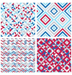Set of four abstract geometric backgrounds vector