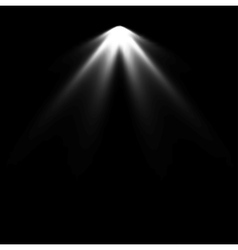Spotlight black and white lighting vector image