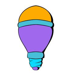 Led bulb icon cartoon vector