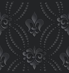 damask seamless pattern dark element elegant vector image