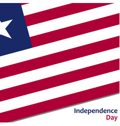 Liberia independence day vector