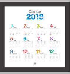 2018 calendar desk calendar modern design vector