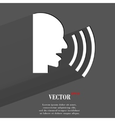 Talking flat modern web button with long shadow vector