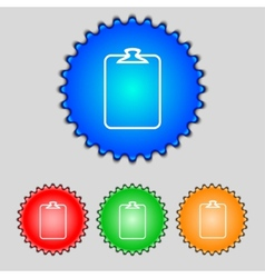 File annex icon paper clip symbol attach sign set vector