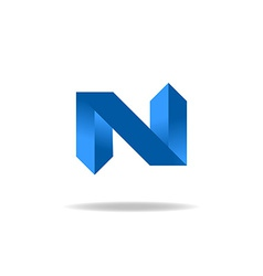 Letter n logo element website icon vector