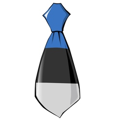 Necktie in national colours of estonia vector