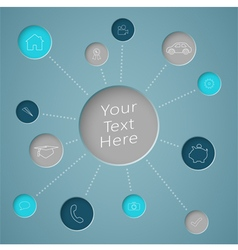 Infographic text circle with generic icons vector