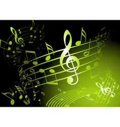 Green music theme vector