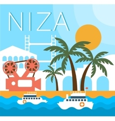 Niza traditional landscape vector