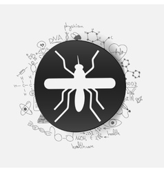 Drawing medical formulas mosquito vector