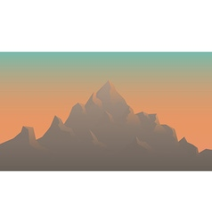 Stylized image of mountains at sunrise vector