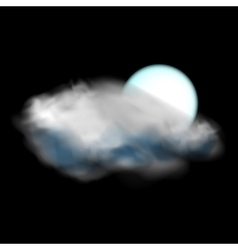 Moon and cloud weather icon vector
