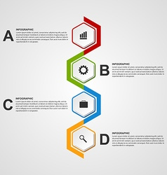 Abstract hexagon infographics or timeline template vector