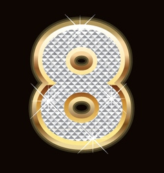 Eight bling bling vector