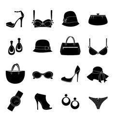 elegant accessories vector image