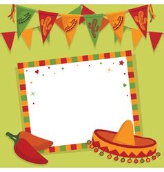 Mexican party card vector