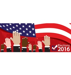 Elections 2016 Banner vector image