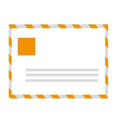 Yellow mail envelope vector