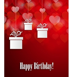 Birthday card with presents design vector