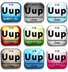 A button showing the element ununpentium vector