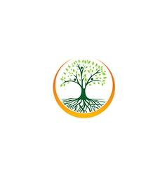 Abstract green tree ecology logo vector