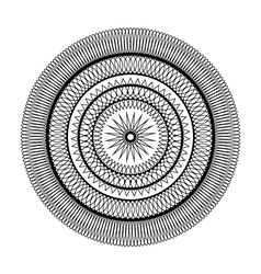 adult coloring book page circular pattern mandala vector image