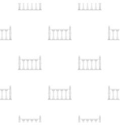 Balustrade pattern seamless vector