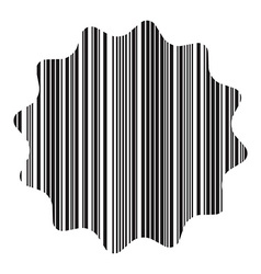 barcode labels in the form of a gear vector image
