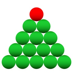 Beads Cristmas tree vector image