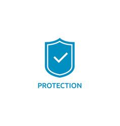 check shield icon symbol secure protection concept vector image