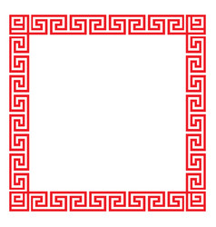 Chinese decorative square frame vector