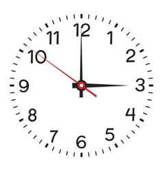 Clock face Isolated on white background vector image vector image