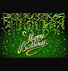 concept party on green background top view happy vector image