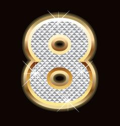 eight bling bling vector image