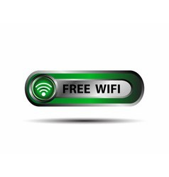 Free wifi wireless button vector