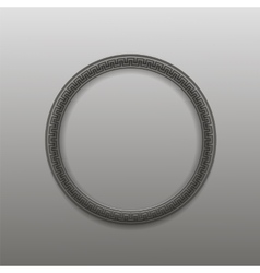 Greek circle frame isolated vector