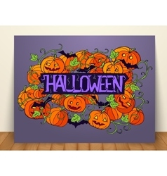 Halloween abstract invitation card vector