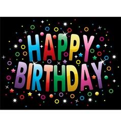 Happy birthday greeting vector