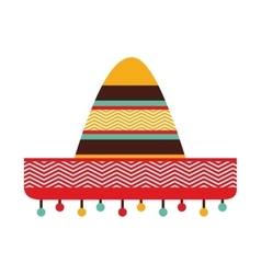 Hat mexican culture icon vector